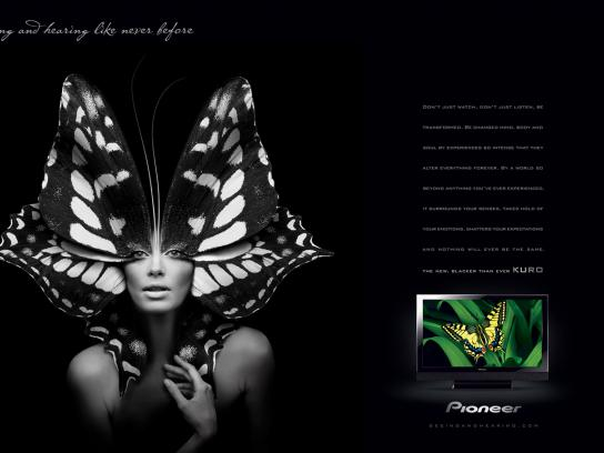 Pioneer Print Ad -  Butterfly