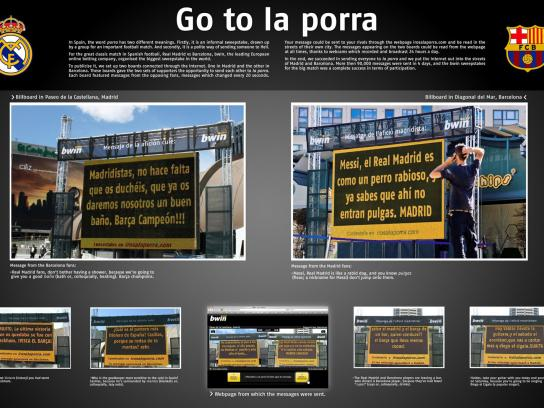 Bwin Outdoor Ad -  Go to la porra