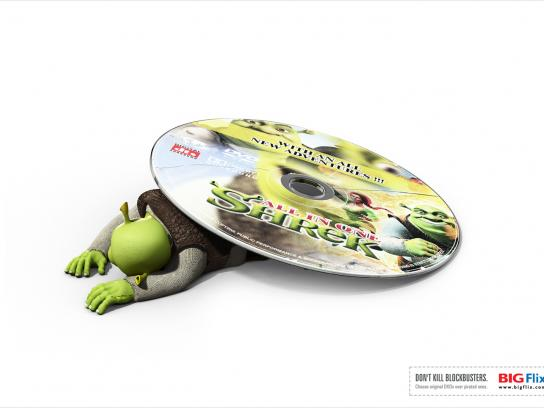 Big Flix Print Ad -  Shrek