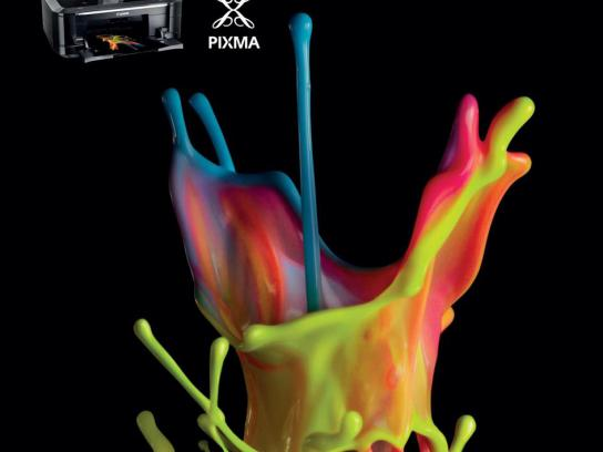 Canon Print Ad -  Colour sculptures, 2
