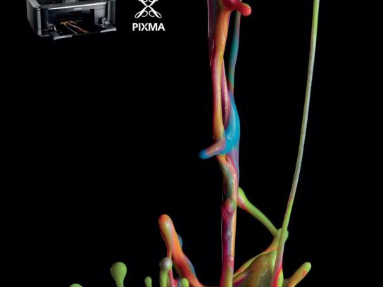 Canon Print Ad -  Colour sculptures, 3