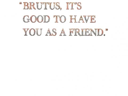 Volkswagen Print Ad -  Early Warning, Caesar and Brutus