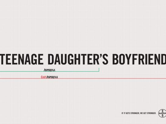 Aspirin Print Ad -  Teenage daughter's boyfriend