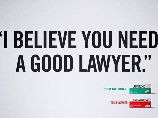 Aspirin Print Ad -  Lawyer