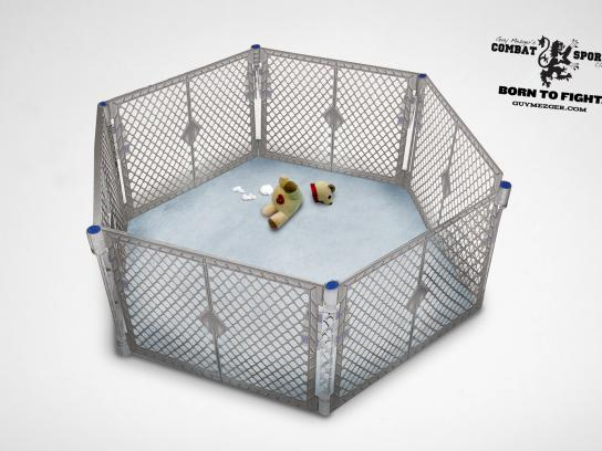 Guy Mezger Combat Sports Club Print Ad -  Cage
