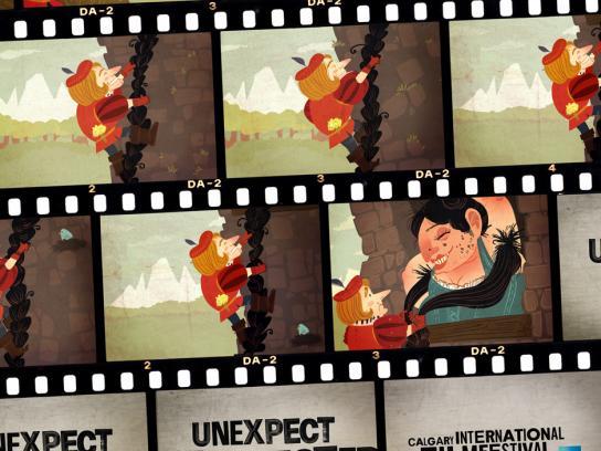 Calgary International Film Festival Print Ad -  Rapunzel