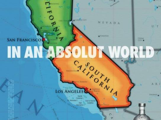 Absolut Print Ad -  California