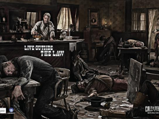 Call of Juarez Print Ad -  Live outside the law