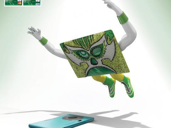 Banco Occidental De Descuento Print Ad -  Wrestlers, Camera