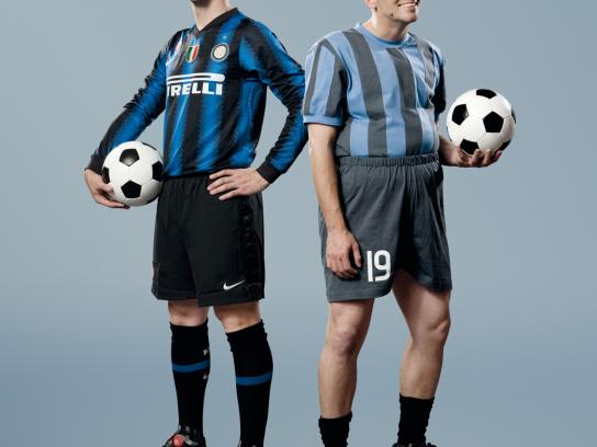 SKY Print Ad -  The most beautiful football, Cambiasso
