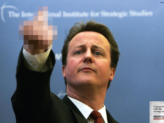 Reporters Without Borders Print Ad -  Censorship tells the wrong story, Cameron