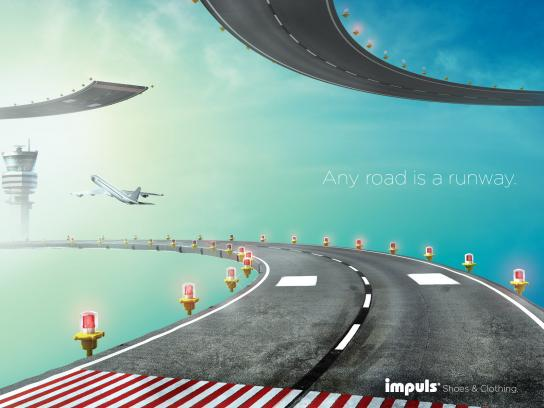 Impuls Print Ad -  Any Road is a Runway, Highway