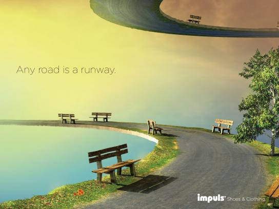 Impuls Print Ad -  Any Road is a Runway, Park