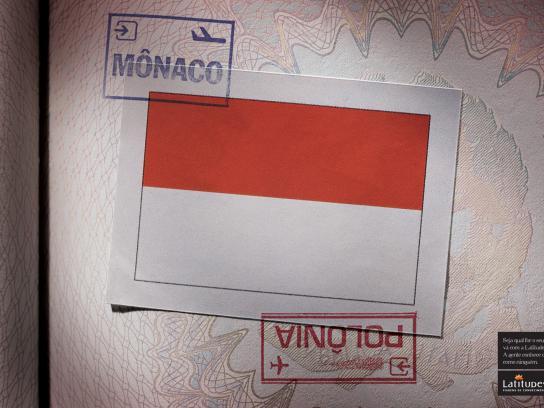 Latitudes Print Ad -  Monaco / Poland