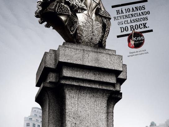 KISS FM Print Ad -  Monuments, 1