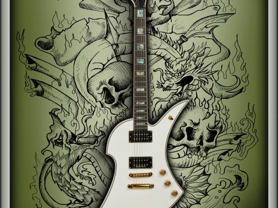 Carlino Guitars Print Ad -  Campfire