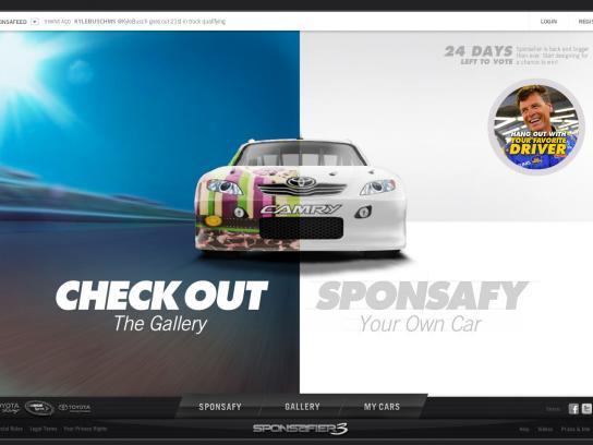 Toyota Digital Ad -  Sponsafier challenge