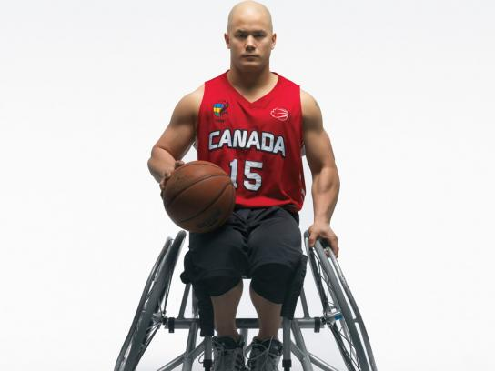 Canadian Paralympics Committee Print Ad -  Basketball