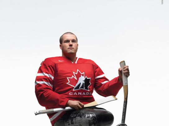 Canadian Paralympics Committee Print Ad -  Sledge Hockey
