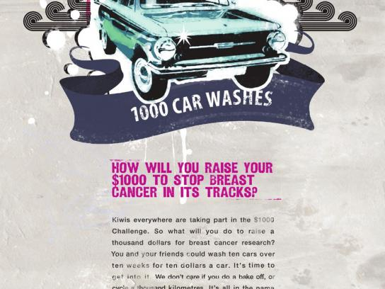 The Breast Cancer Cure Research Trust Print Ad -  Cure car