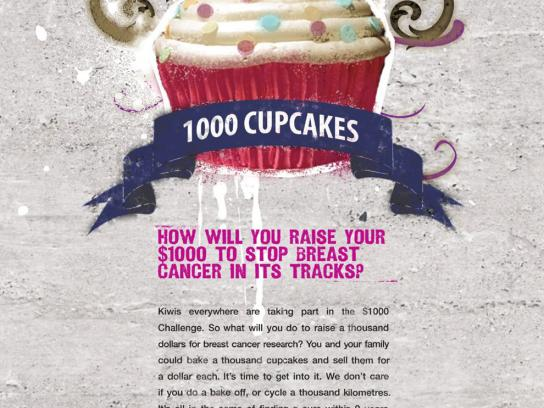 The Breast Cancer Cure Research Trust Print Ad -  Cure cupcakes
