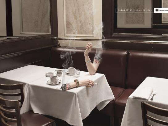 Cancer Patients Aid Association Print Ad -  Bistro