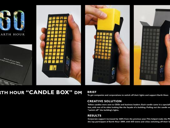 WWF Direct Ad -  Candle Box