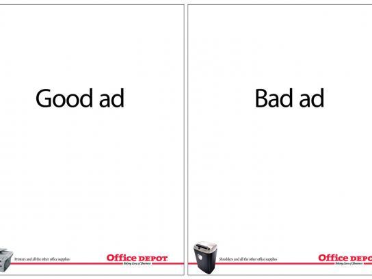 Office Depot Print Ad -  Good ad, Bad ad