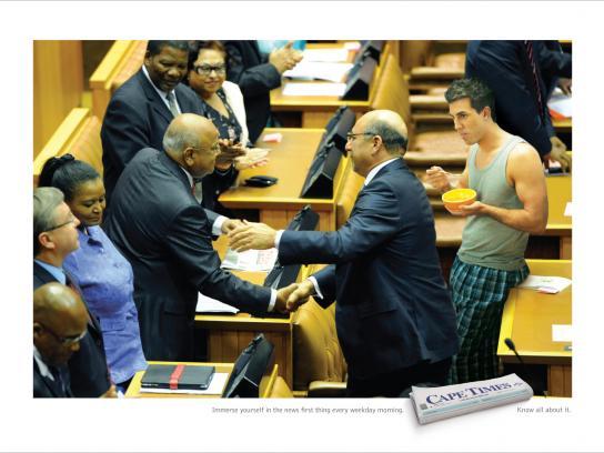 Cape Times Print Ad -  Parliament