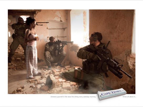 Cape Times Print Ad -  War