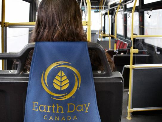 Earth Day Ambient Ad -  Bus cape