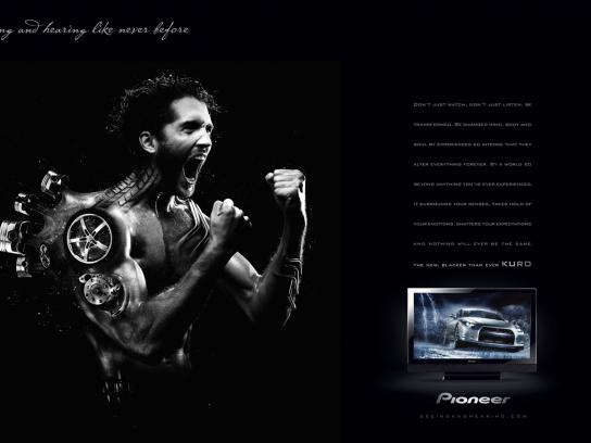 Pioneer Print Ad -  Car guy