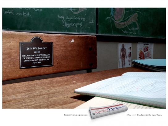 Career Times Print Ad -  School