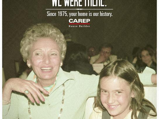 Carep Costruzioni Print Ad -  We Were There, Grandma