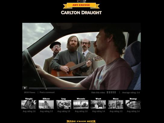 Carlton Digital Ad -  Any excuse