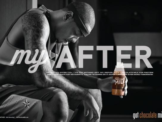 Chocolate Milk Print Ad -  Carmelo