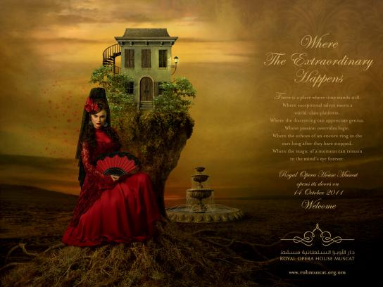 Royal Opera House Muscat Print Ad -  Carmen