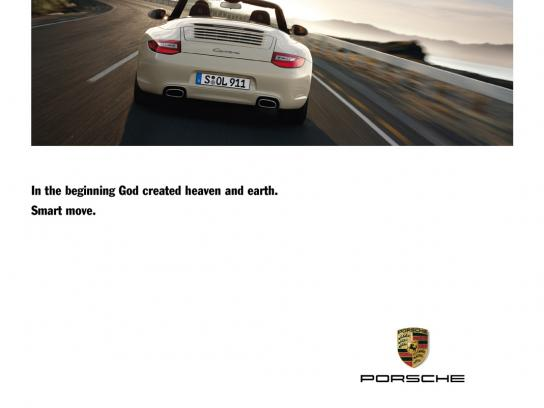 Porsche Print Ad -  Smart move