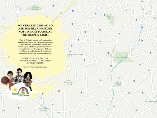 Casa do Zezinho Print Ad -  Maps, traffic light
