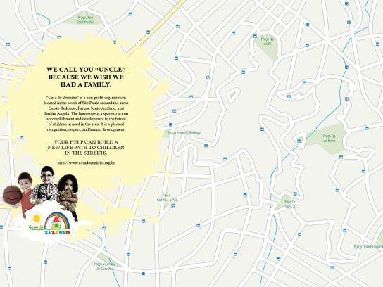 Casa do Zezinho Print Ad -  Maps, uncle