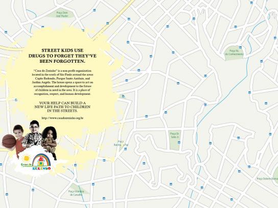 Casa do Zezinho Print Ad -  Maps, drugs