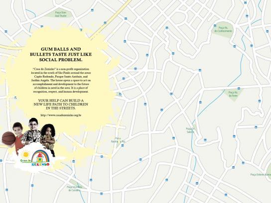 Casa do Zezinho Print Ad -  Maps, gum balls