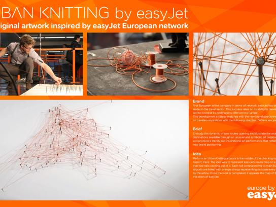 EasyJet Ambient Ad -  Urban Knitting
