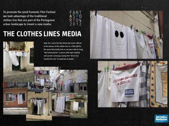 Jornal de Noticias Ambient Ad -  Clothes Lines Media