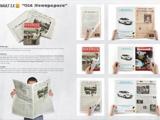 Renault Print Ad -  Old Newspapers