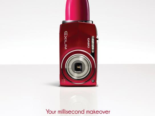 Casio Print Ad -  Millisecond makeover, Lipstick