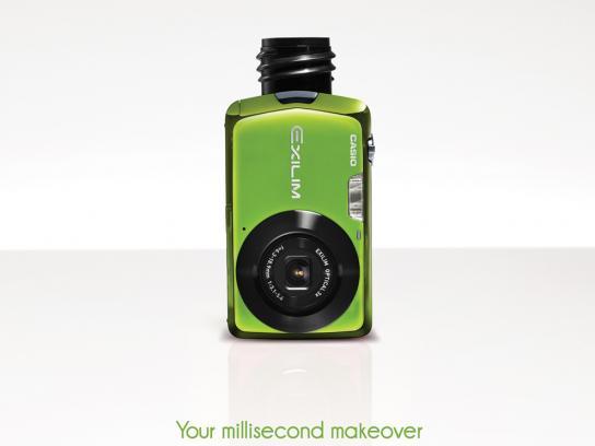 Casio Print Ad -  Millisecond makeover, Mascara