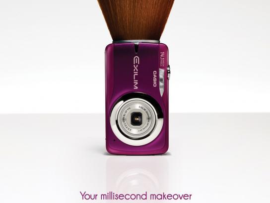 Casio Print Ad -  Millisecond makeover, Brush