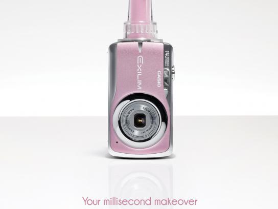 Casio Print Ad -  Millisecond makeover, Lip gloss