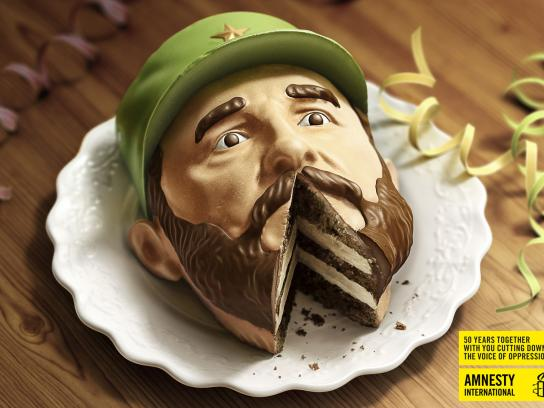 Amnesty International Print Ad -  Castro